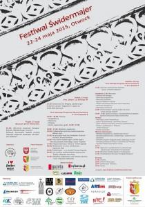 Plakat Festiwal Świdermajer 2015