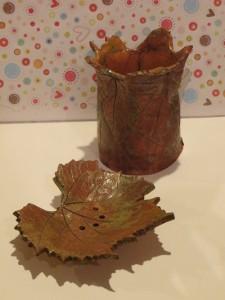 mydelniczka liść i kubek