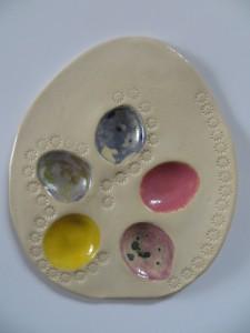 talerzyk na jajeczka przepiórcze