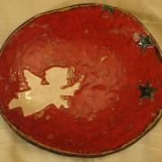 Duży talerz z aniołkiem; cena 50 zł